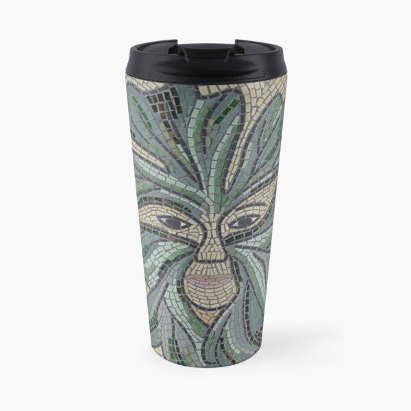 Green Man Mosaic by Sue Kershaw Travel Mug
