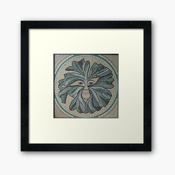 Green Man Mosaic by Sue Kershaw Framed Art Print