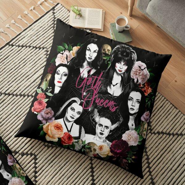 Goth Queens - Elvira, Vampira, Lily, Morticia, Frankenstein Floor Pillow