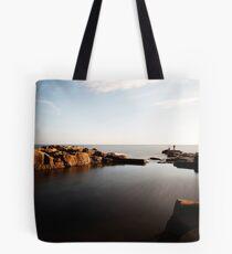 Rock Fishing, Whitley Bay Tote Bag