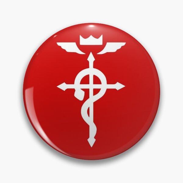 Flamel Cross red and white- Fullmetal alchemist Pin