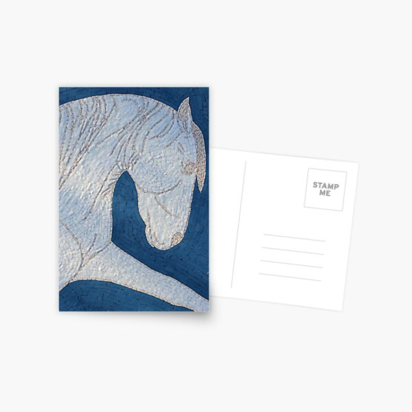 White Horse Mosaic by Sue Kershaw Postcard