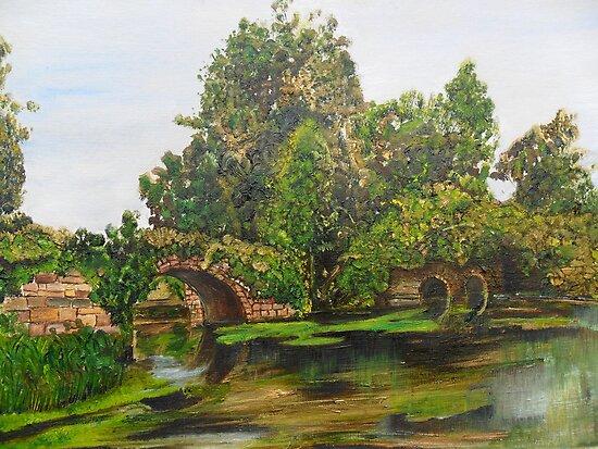 Warwick Castle's, Ancient Bridge. Warwickshire, England by Woodbine252