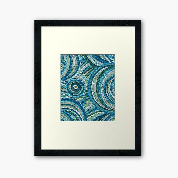 Mediterranean Daydreams Mosaic by Sue Kershaw Framed Art Print