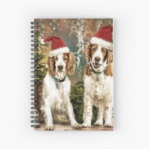 Welsh Springer Spaniels - Naughty or Nice Christmas  Spiral Notebook