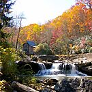 Glade Creek Mill in Fall Color by Fred Moskey