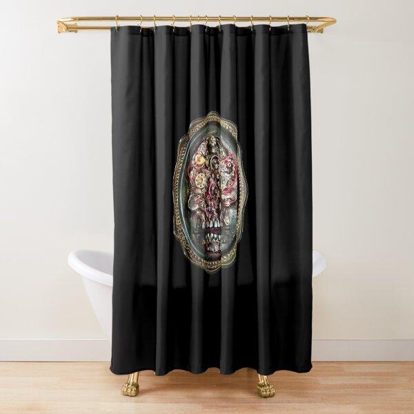 Biomech Skull Dead Machinery Art Shower Curtain