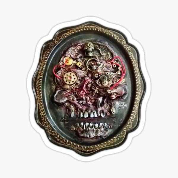 Biomech Skull Dead Machinery Art Sticker
