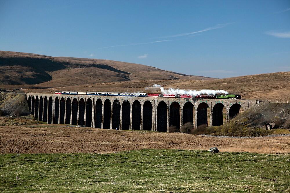 Tornado Crosses Ribblehead Viaduct by Jan Fialkowski