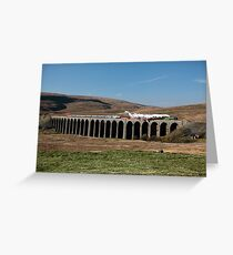 Tornado Crosses Ribblehead Viaduct Greeting Card