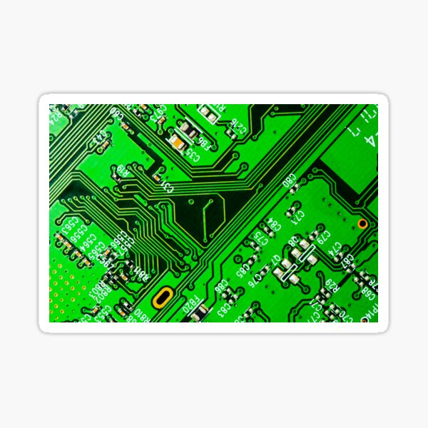 Green circuit board Sticker
