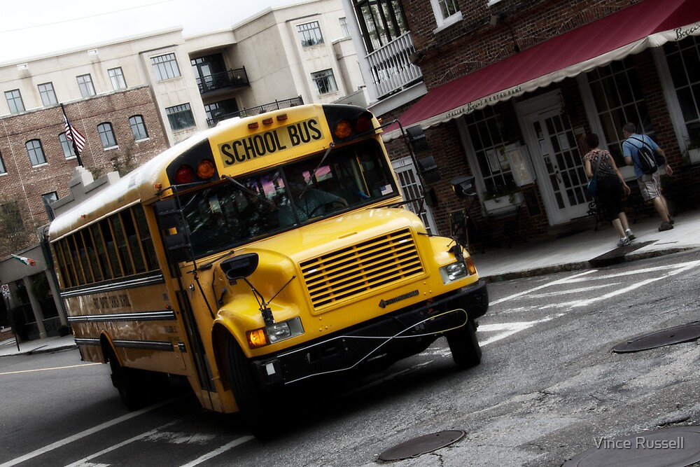 School Bus En-route  by Vince Russell