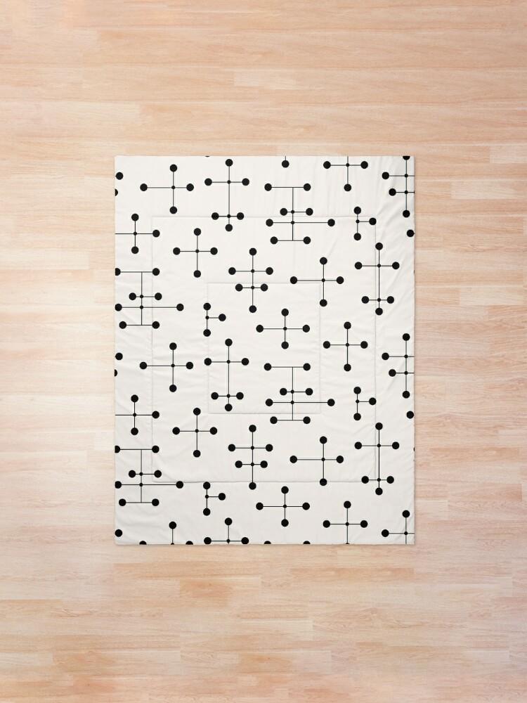 Alternate view of Midcentury Modern Dots 44-custom Comforter