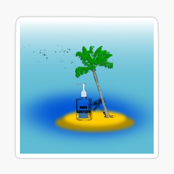 On a deserted island Sticker