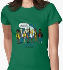 Greendale the Animated Series Women's Fitted T-Shirt