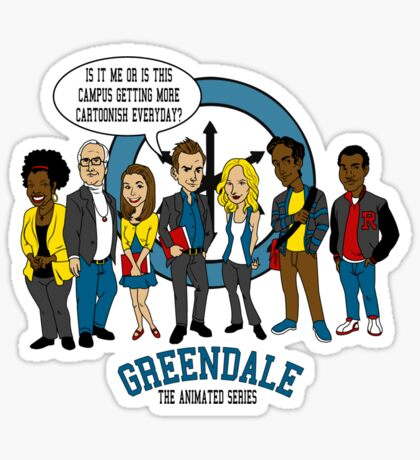 Greendale the Animated Series Sticker