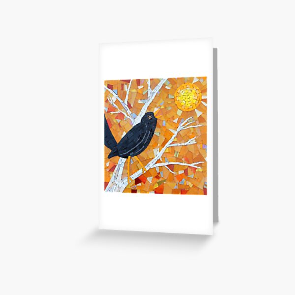 Evensong Mosaic by Sue Kershaw Greeting Card