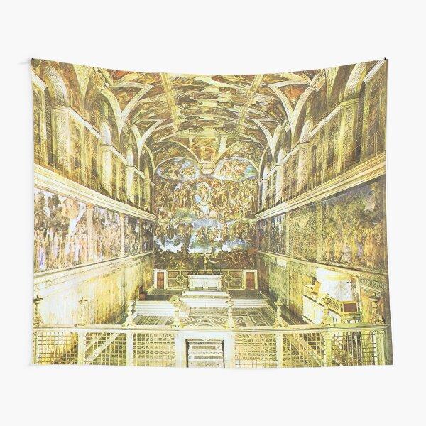 Sistine Chapel by Michelangelo Buonarroti  Tapestry