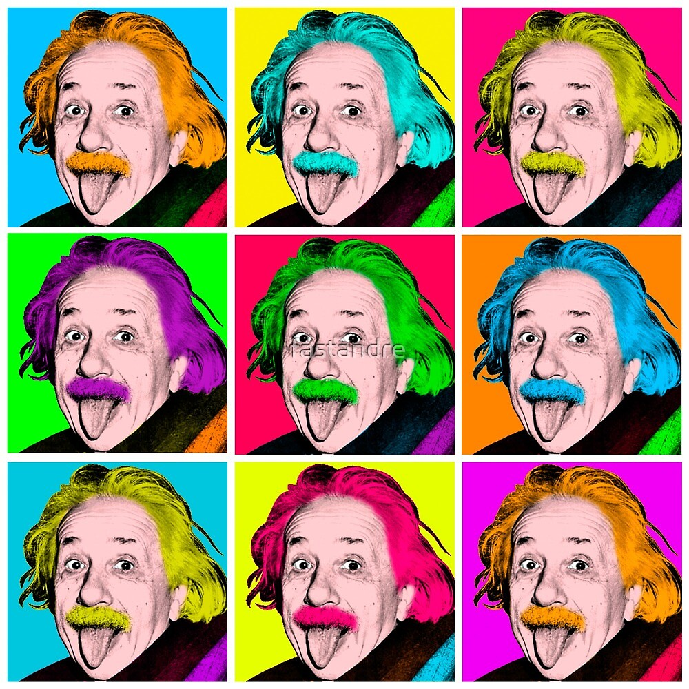 Albert Einstein Iconic Tongue Out Warhol Pop Art by fastandre