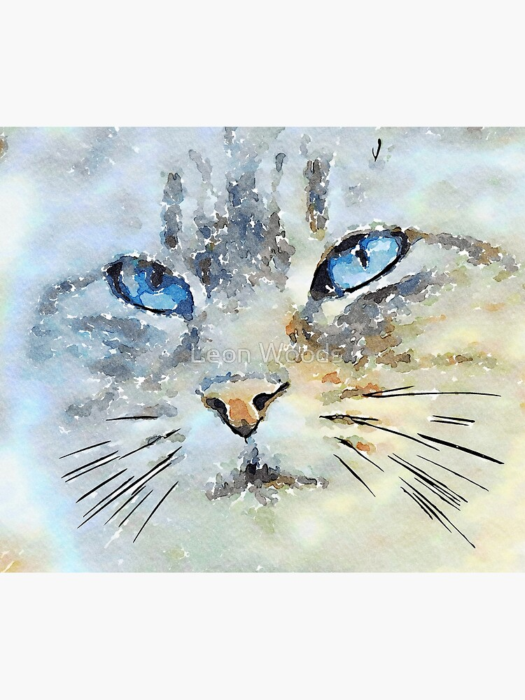 Watercolour Cat by leonwoods