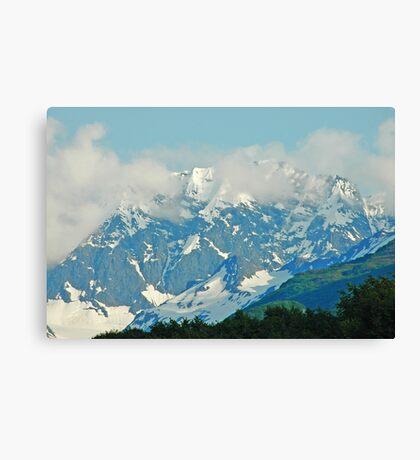 High On A Mountain Top Canvas Print