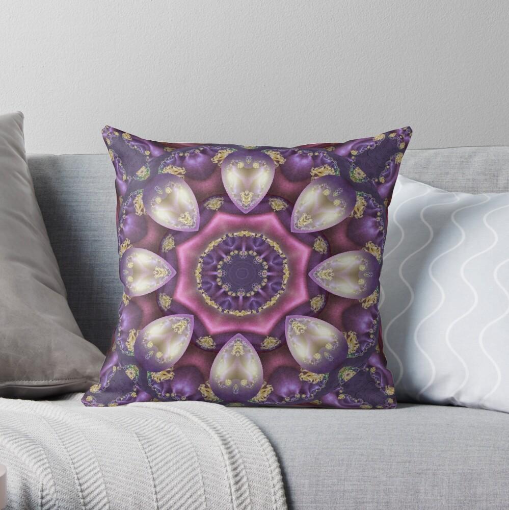 Krazy Kaleidoscope 1008 Throw Pillow