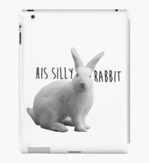 His silly rabbit iPad Case/Skin