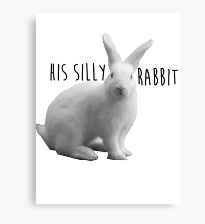 His silly rabbit Canvas Print