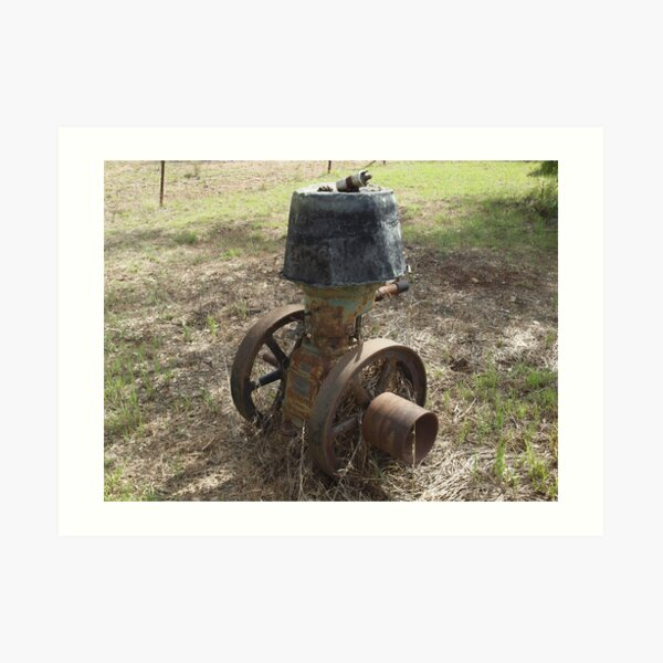 Old R.A. Lister Stationary Engine Art Print