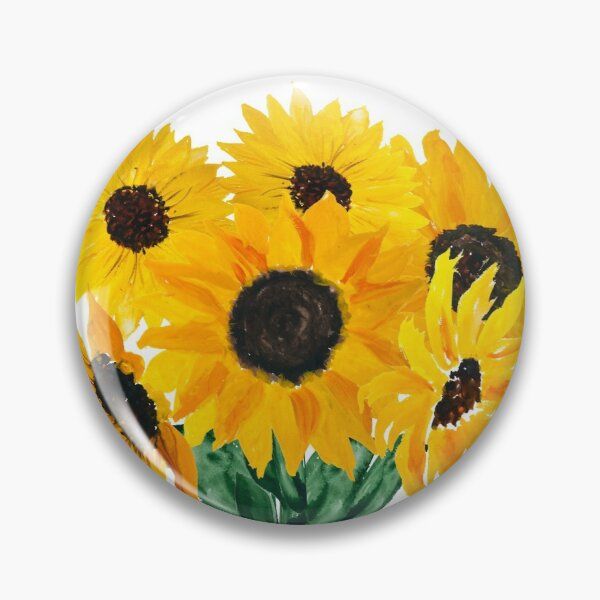 Painted sunflower bouquet Pin