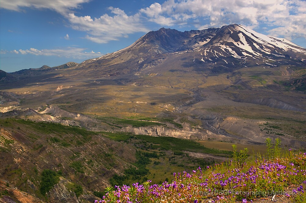 Toutle River Valley - Mt. St. Helens by James Anderson