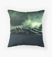 Storm Over Mountains Throw Pillow