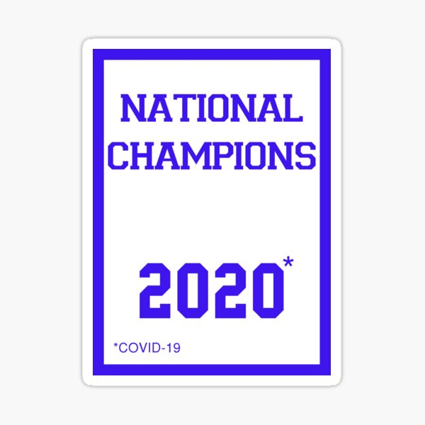 Kansas Jayhawks 2020 National Champions Banner Sticker Sticker