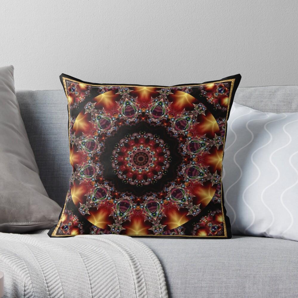 Krazy Kaleidoscope 1010 Throw Pillow