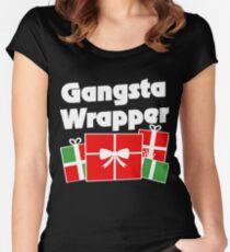 Gangsta wrapper Women's Fitted Scoop T-Shirt