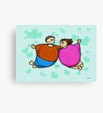 Fat lovers Canvas Print