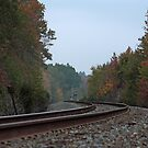 Autumn Railway by Lisa Holmgreen Porier