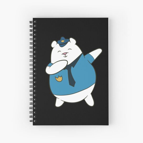 Police officer - polar bear, DAB, dabben, dabbing, Spiral Notebook
