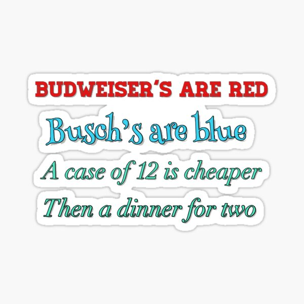 Funny Valentines Day Poem Sticker  Sticker