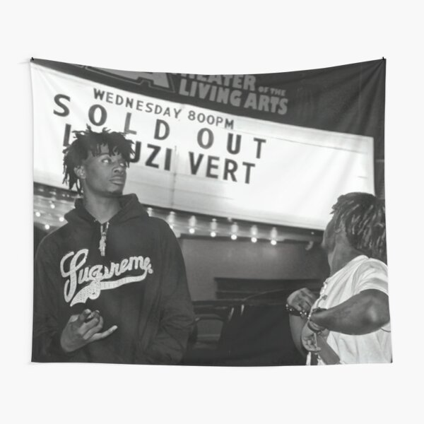 Uzi and Carti Black and White Tapestry
