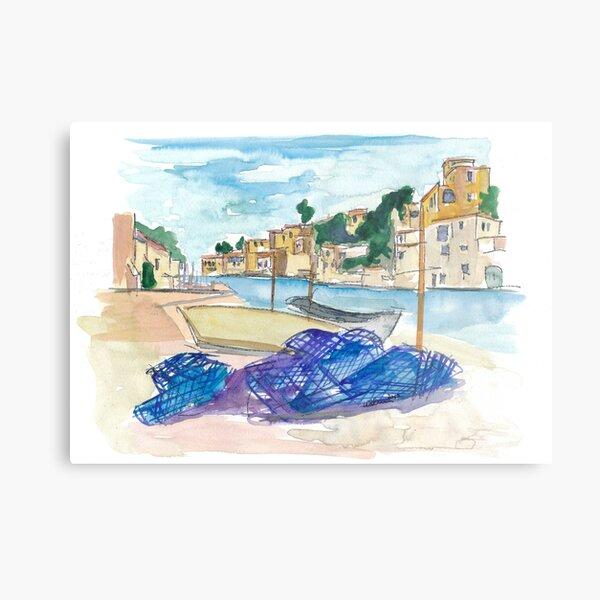 Mallorca Baleares Harbour Scene Metal Print