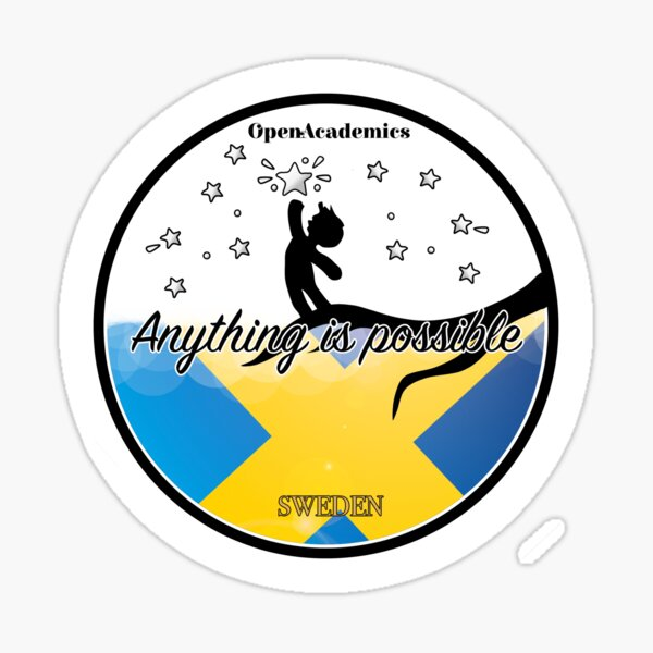 OpenAcademics Reach for the stars - Sweden Sticker