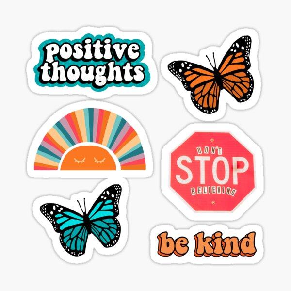 Trendy Sticker Pack: orange & teal Sticker