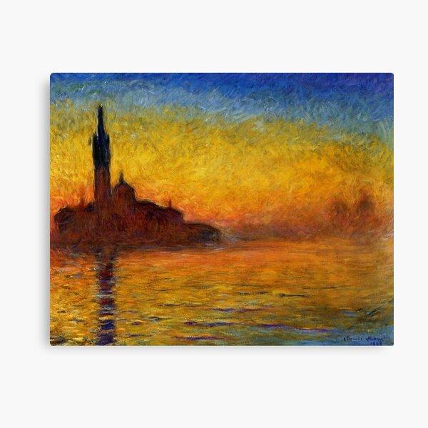 Claude Monet Twilight, Venice Sunset Painting Canvas Print