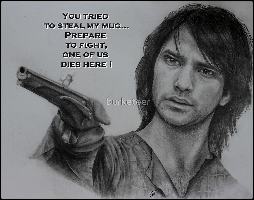 D'Artagnan with quote Mug by burketeer