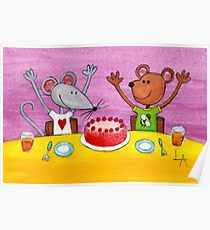 Mouse & Bear Party Poster