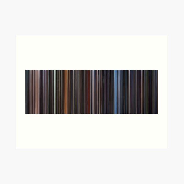 Moviebarcode: Star Wars: Complete Saga (1977-2005) Art Print