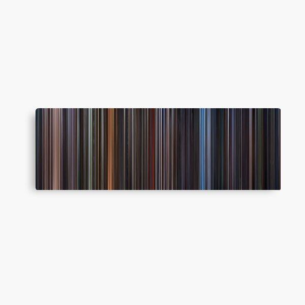 Moviebarcode: Star Wars: Complete Saga (1977-2005) Canvas Print