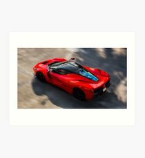 Ferrari LaFerrari in Motion Art Print