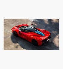 Ferrari LaFerrari in Motion Photographic Print